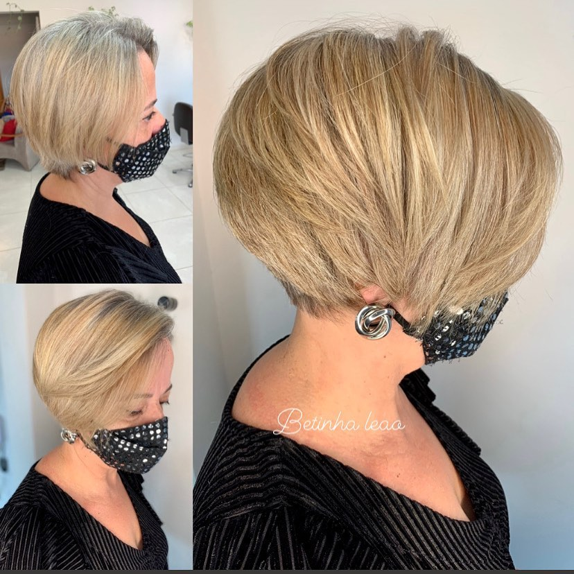 Over 50 Stacked Bob for Thin Hair