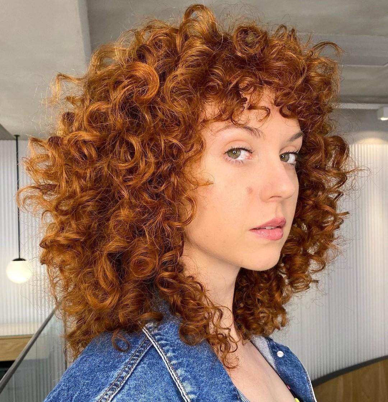 Medium Red Deva Curl Cut