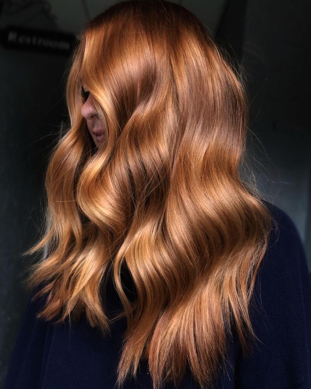 Reddish Light Golden Brown Hair