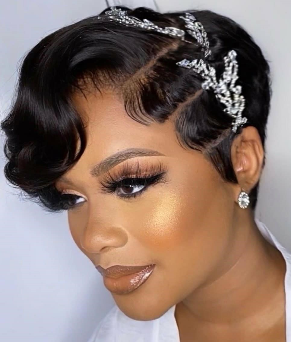 Short Wedding Hairstyle for Pixie Cut