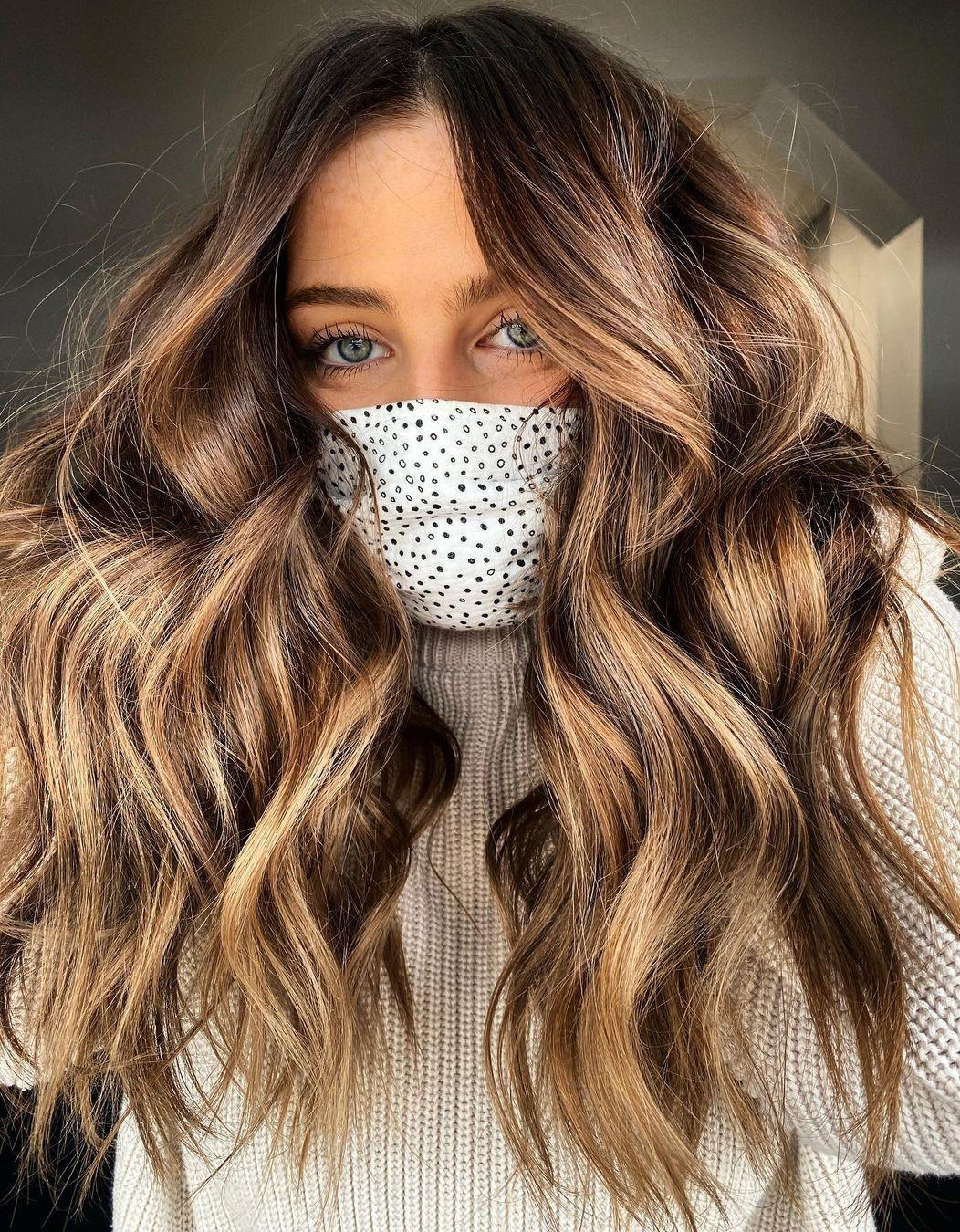 Honey Golden Highlights for Brunette Hair