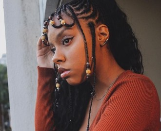 Beaded Fulani Braids with a Pony