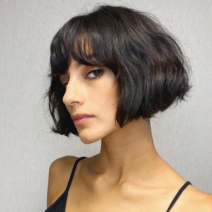 Messy Short-to-Medium Bob Hairstyle