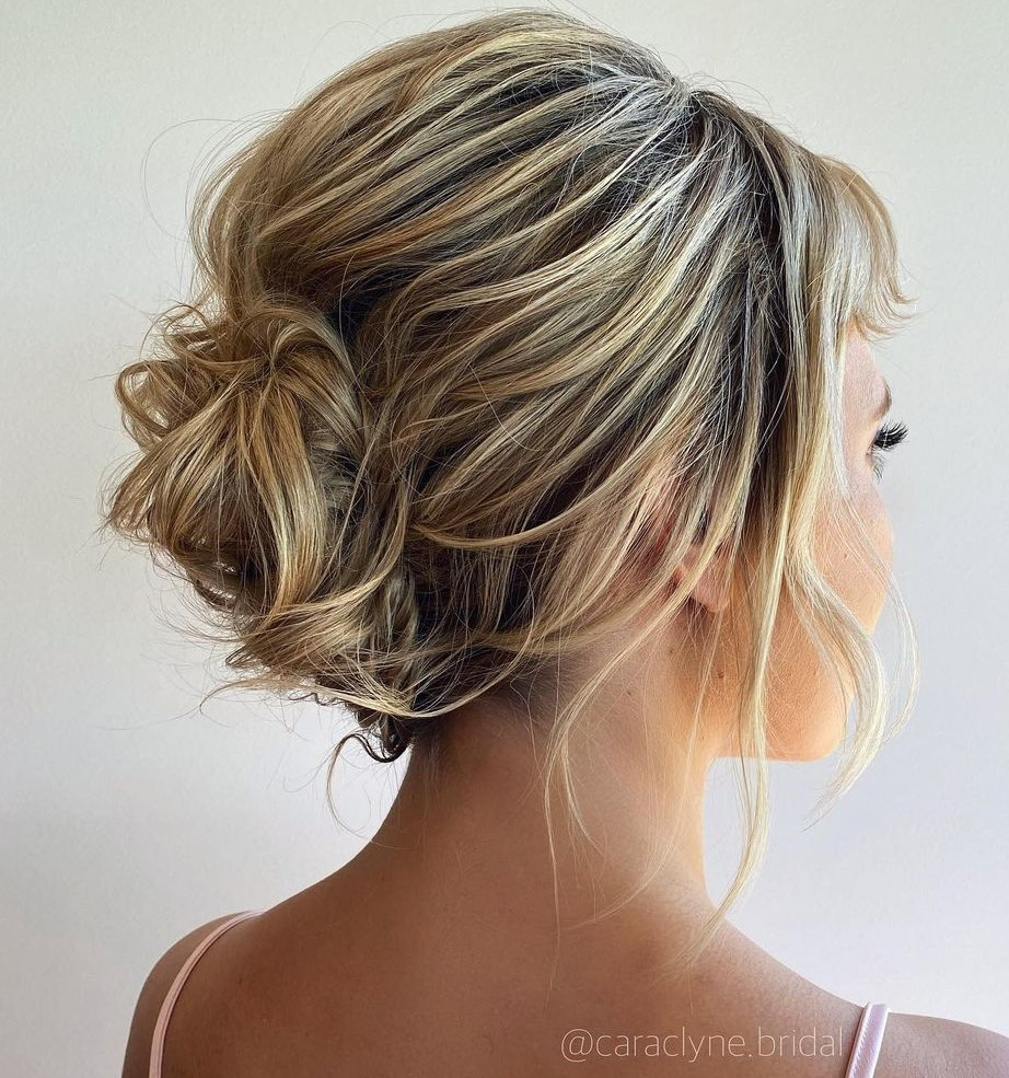 Wedding French Roll for Short Messy Hair