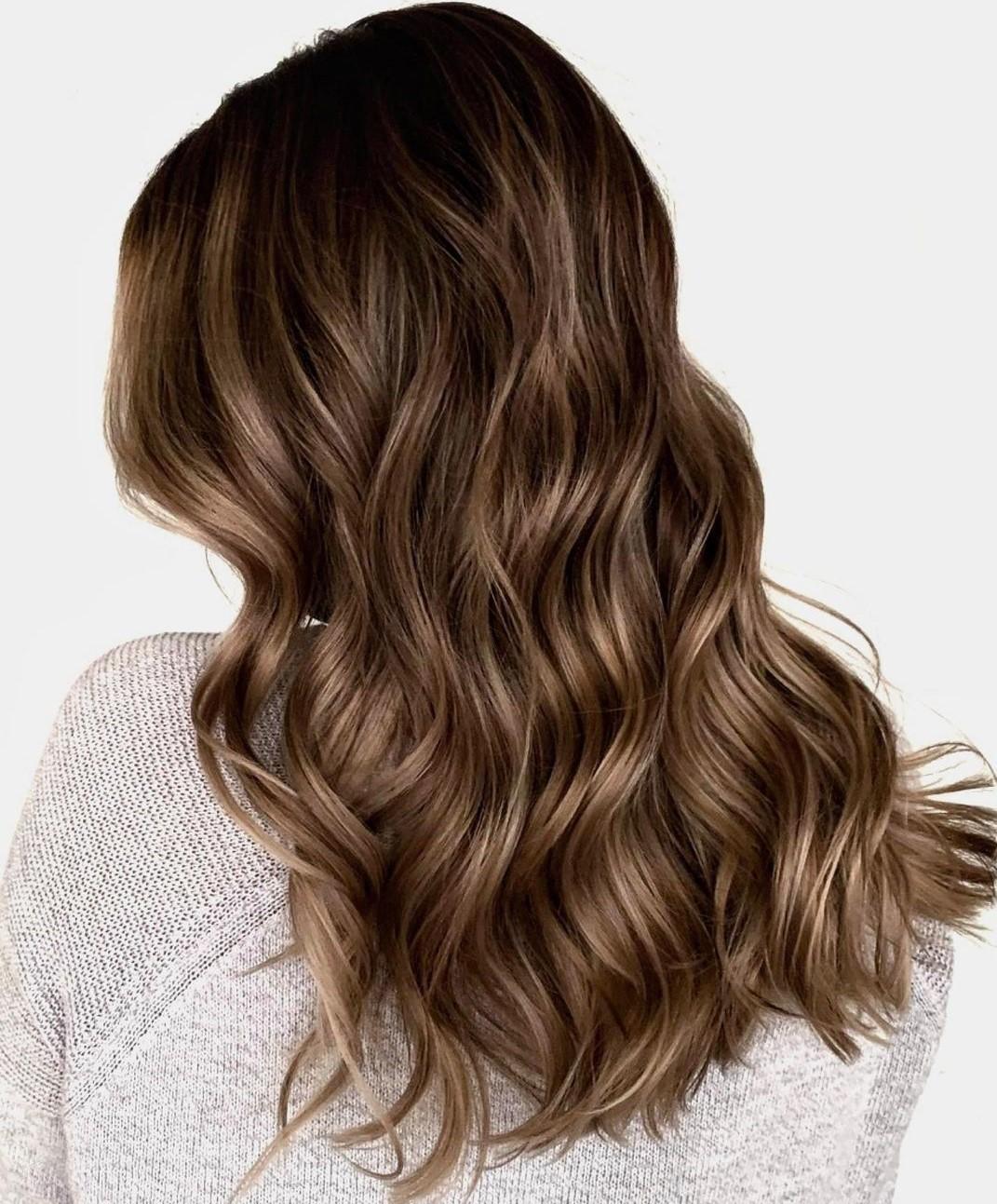 Light Brunette Hair with Ash Babylights