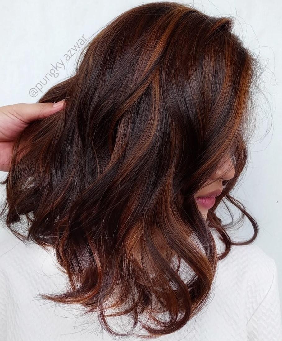 Golden Brown Highlights for Auburn Hair