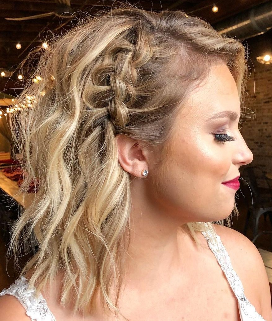 Wavy Messy Hair with a Side Braid