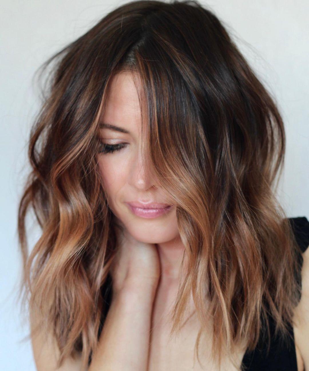 Golden Bronze Brown Medium Hair