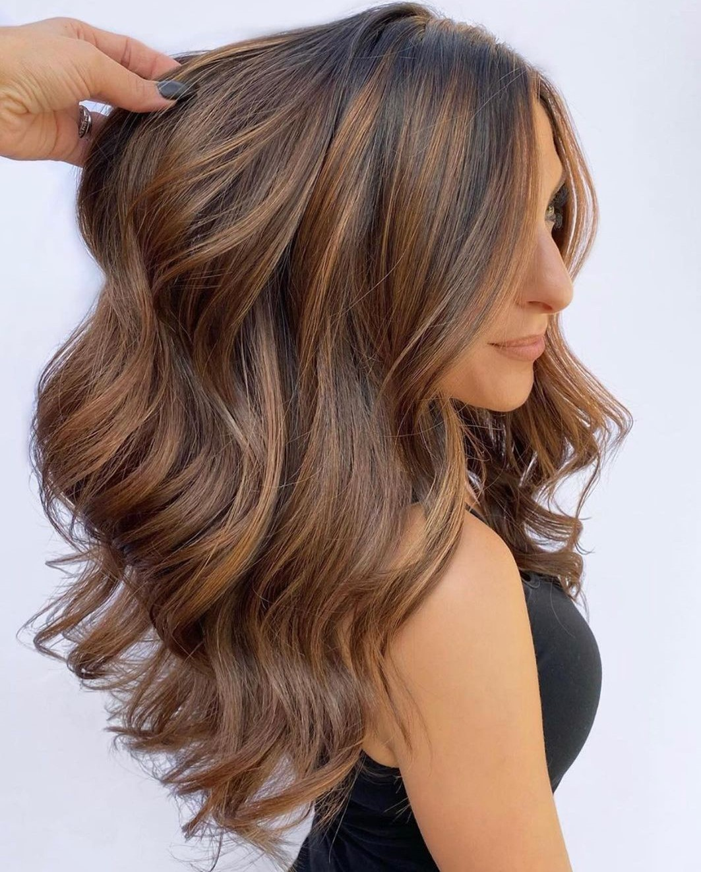 Caramel Balayage Hair Color for Women