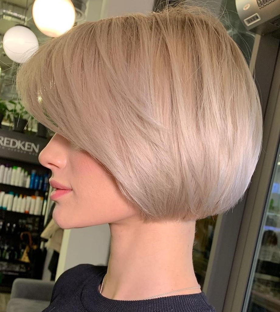 Perfect Blonde Feathered Bob