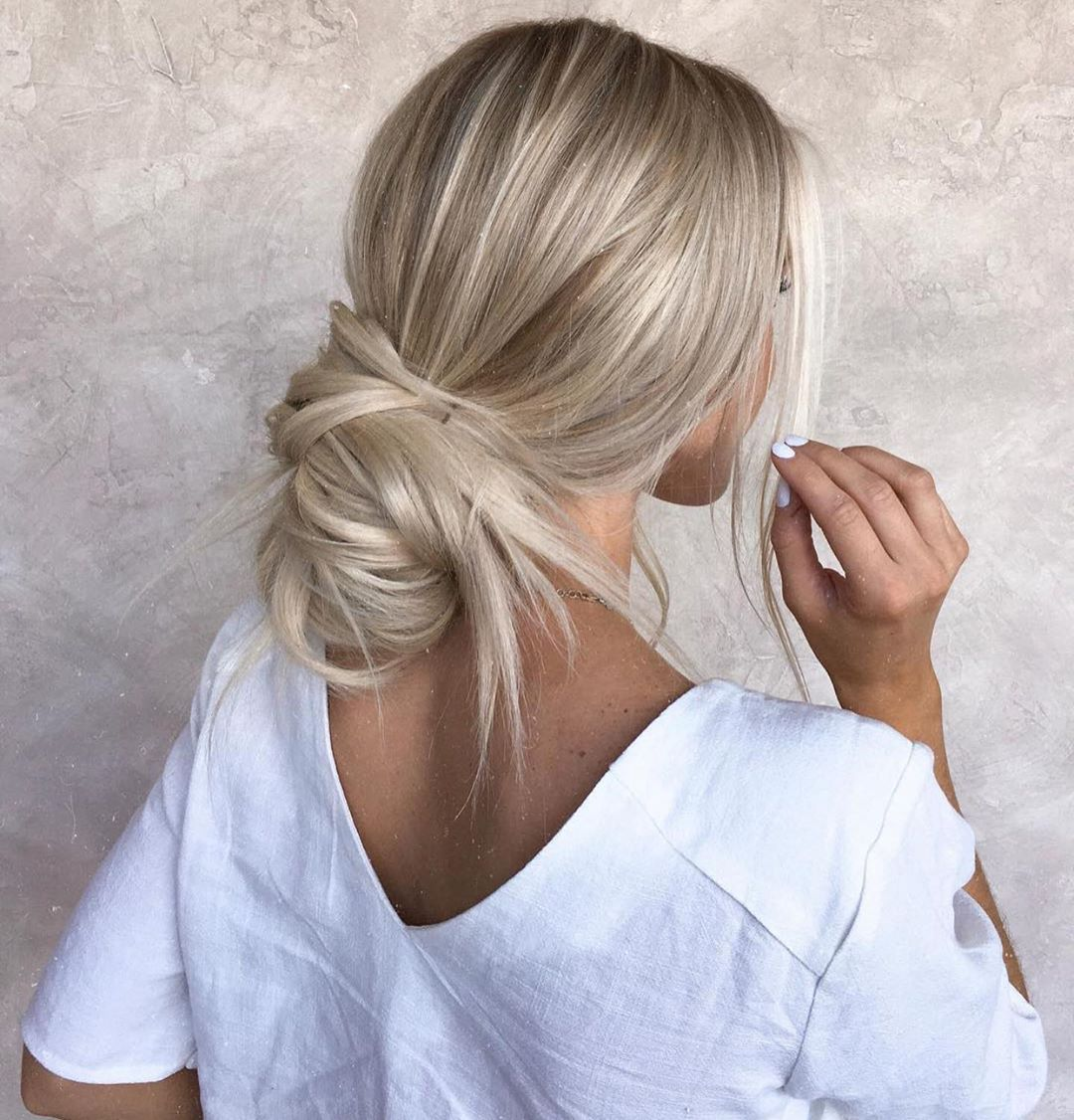 Undone Bun from a Ponytail