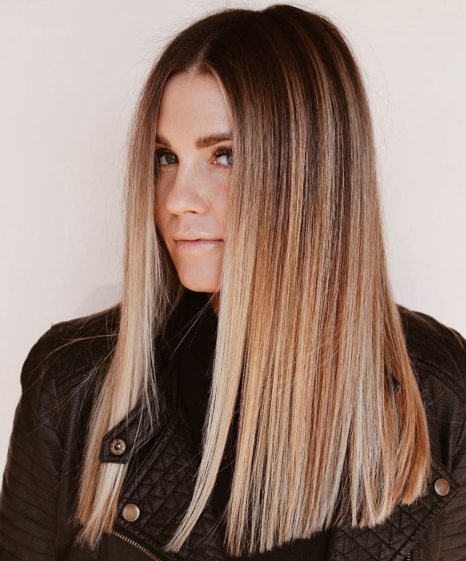 Shadow Root for Straight Blonde Hair