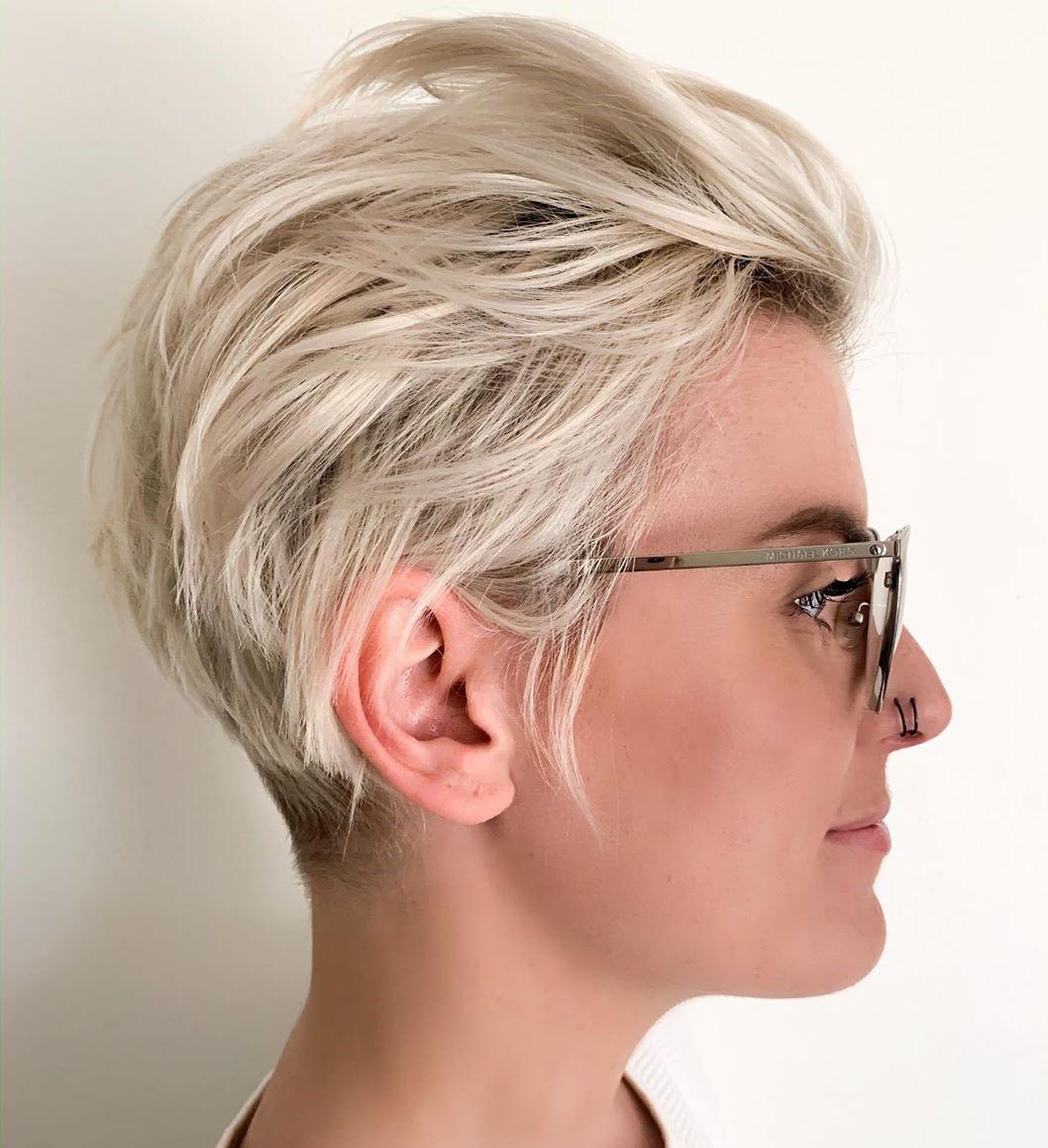 Short Blonde Pixie for Thin Hair