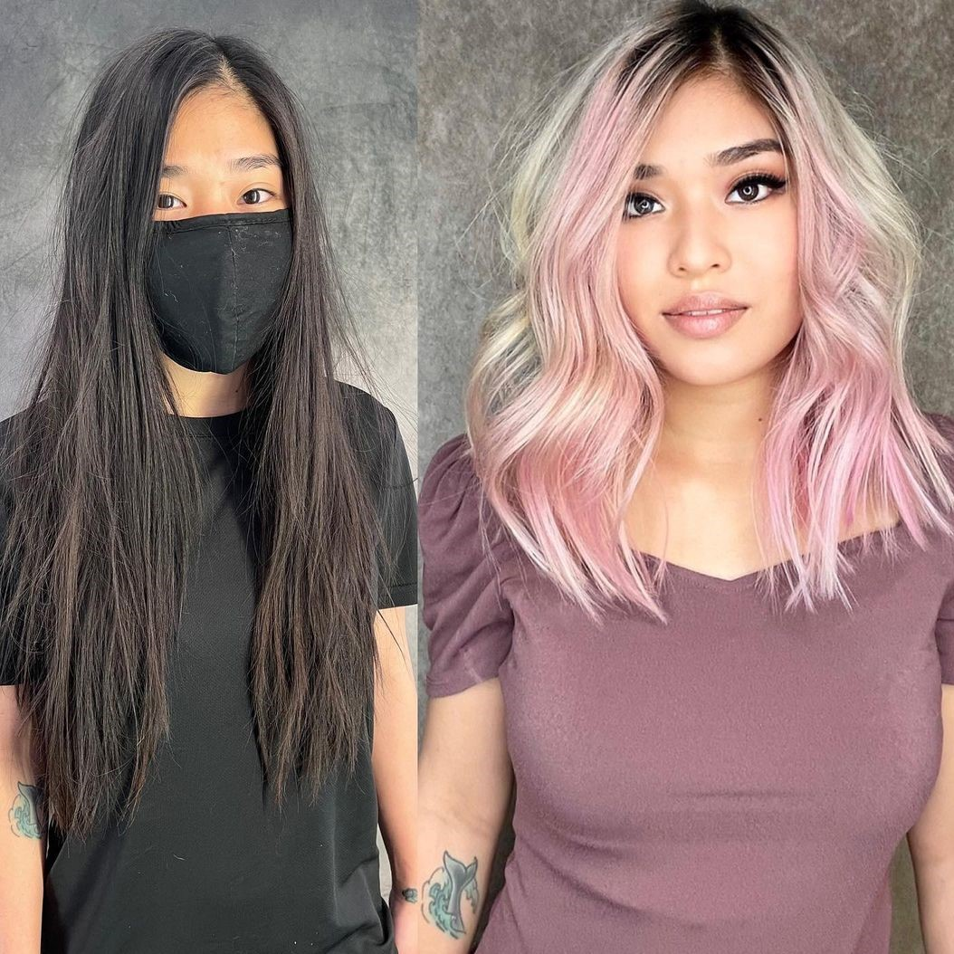 Bright Pastel Hair with Shadow Roots