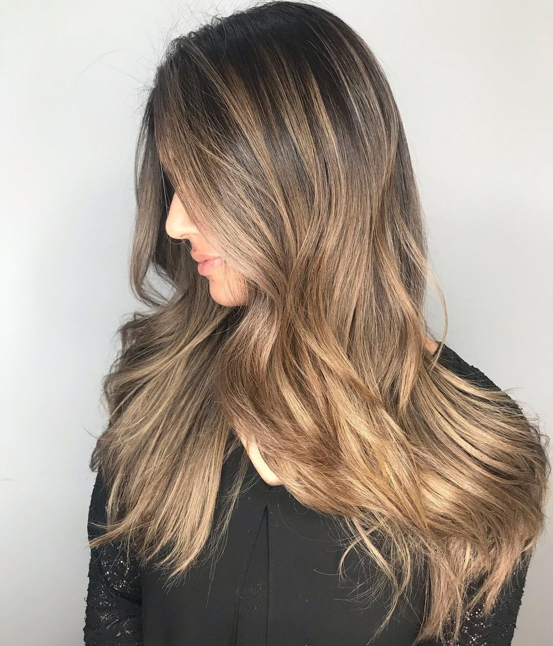 Shadow Root Hair with Highlights and Lowlights