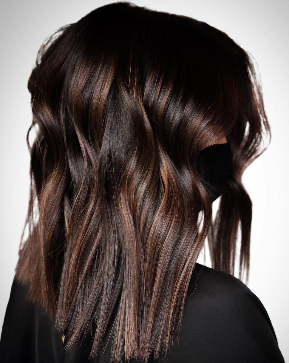 Subtle Brunette Balayage for Medium Hair