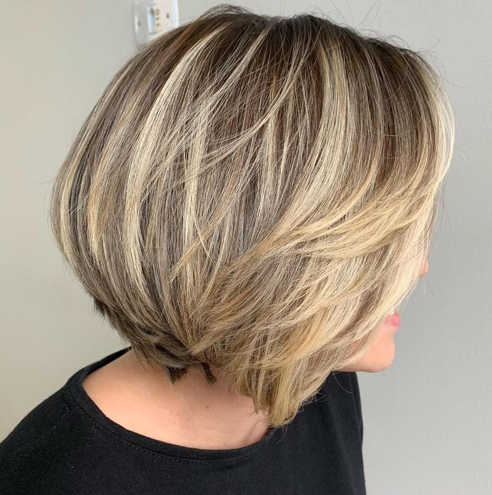 Short Blonde Hairstyle for Dark Hair