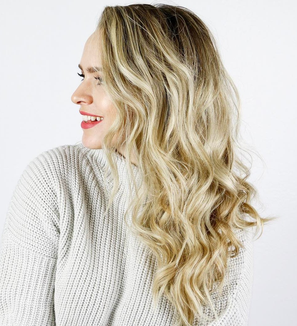 Overnight Beachy Waves for Blonde Balayage Hair