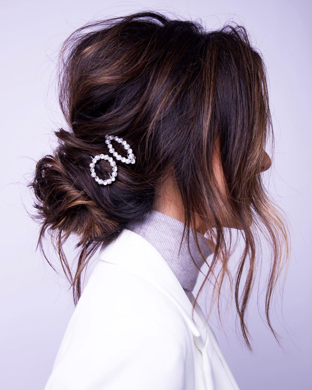 Low Bun with Clips