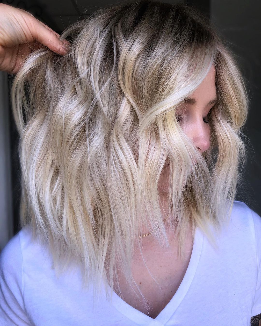 Blonde Hair with Silver Highlights