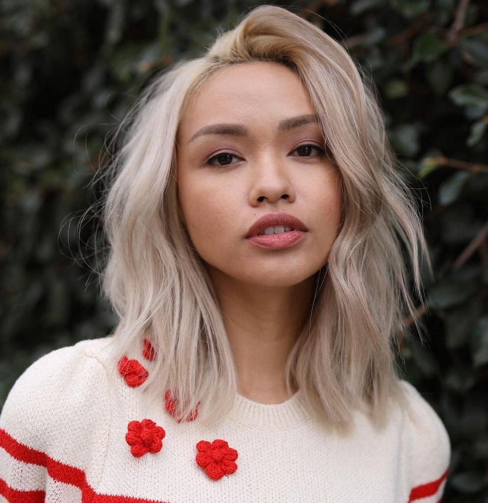 Platinum Medium Asian Haircut