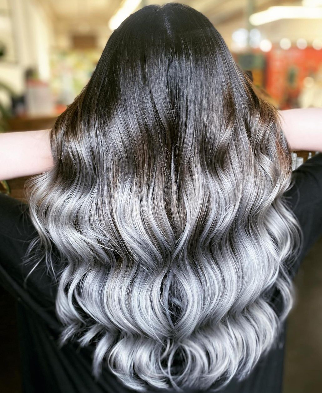 Popular Black to Gray Ombre
