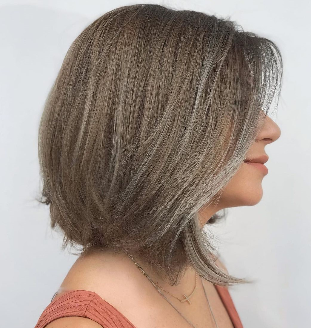 Brown Hair with Highlights for First Grays