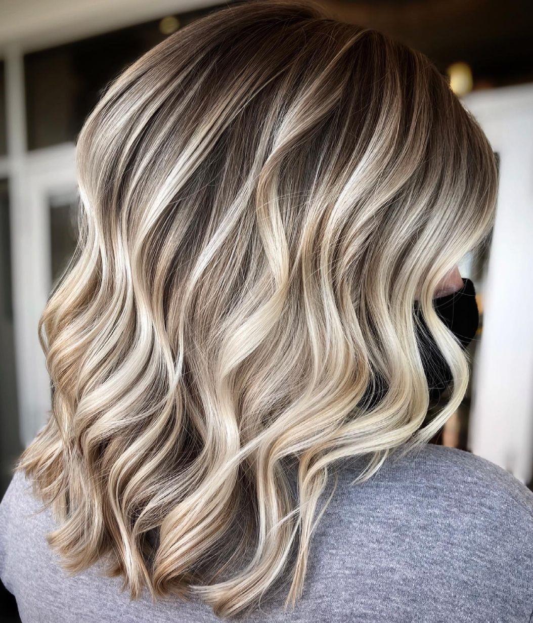 Cute Blonde Highlights for Dark Hair
