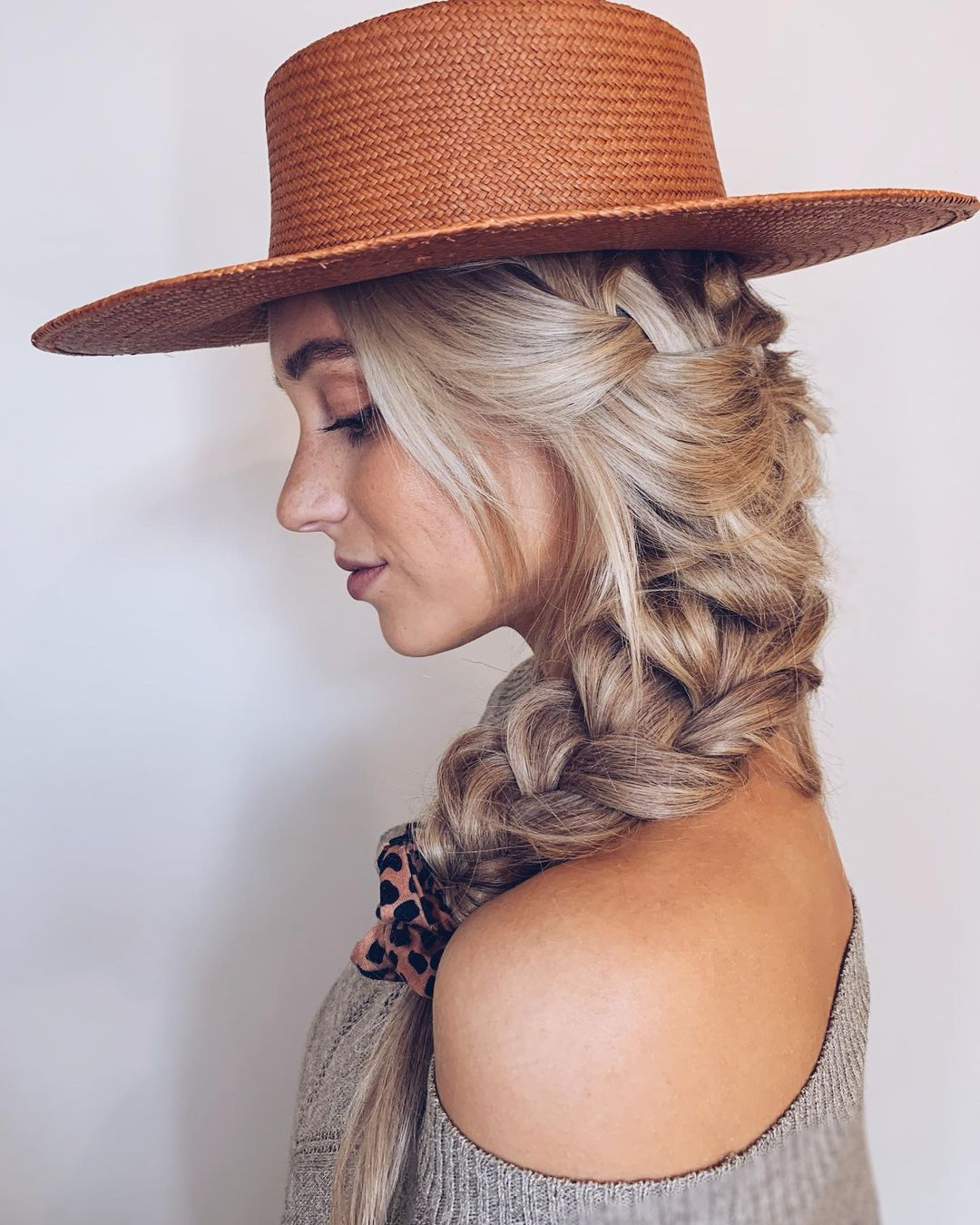 Easy Braid with a Hat