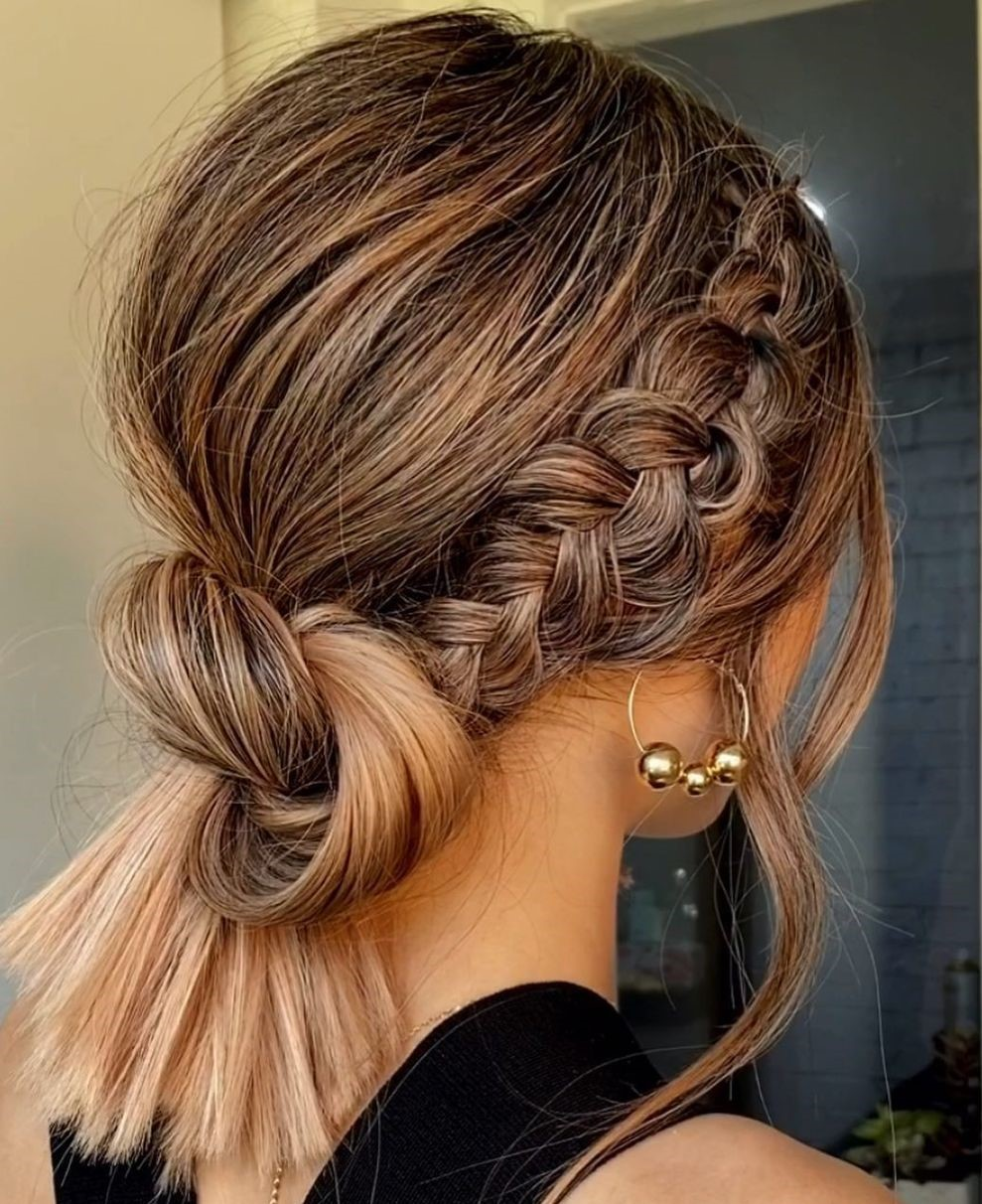 Cute Braid and Knot Updo