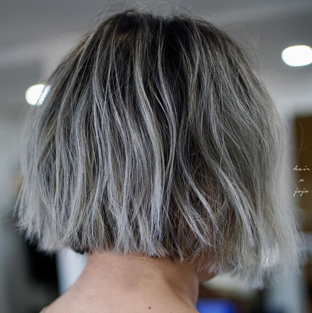 White Highlights with Dark Roots
