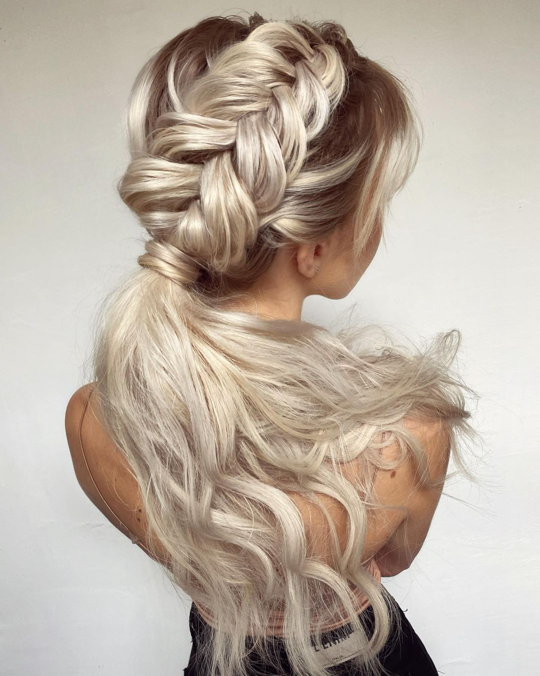 Blonde Braid and Pony Style