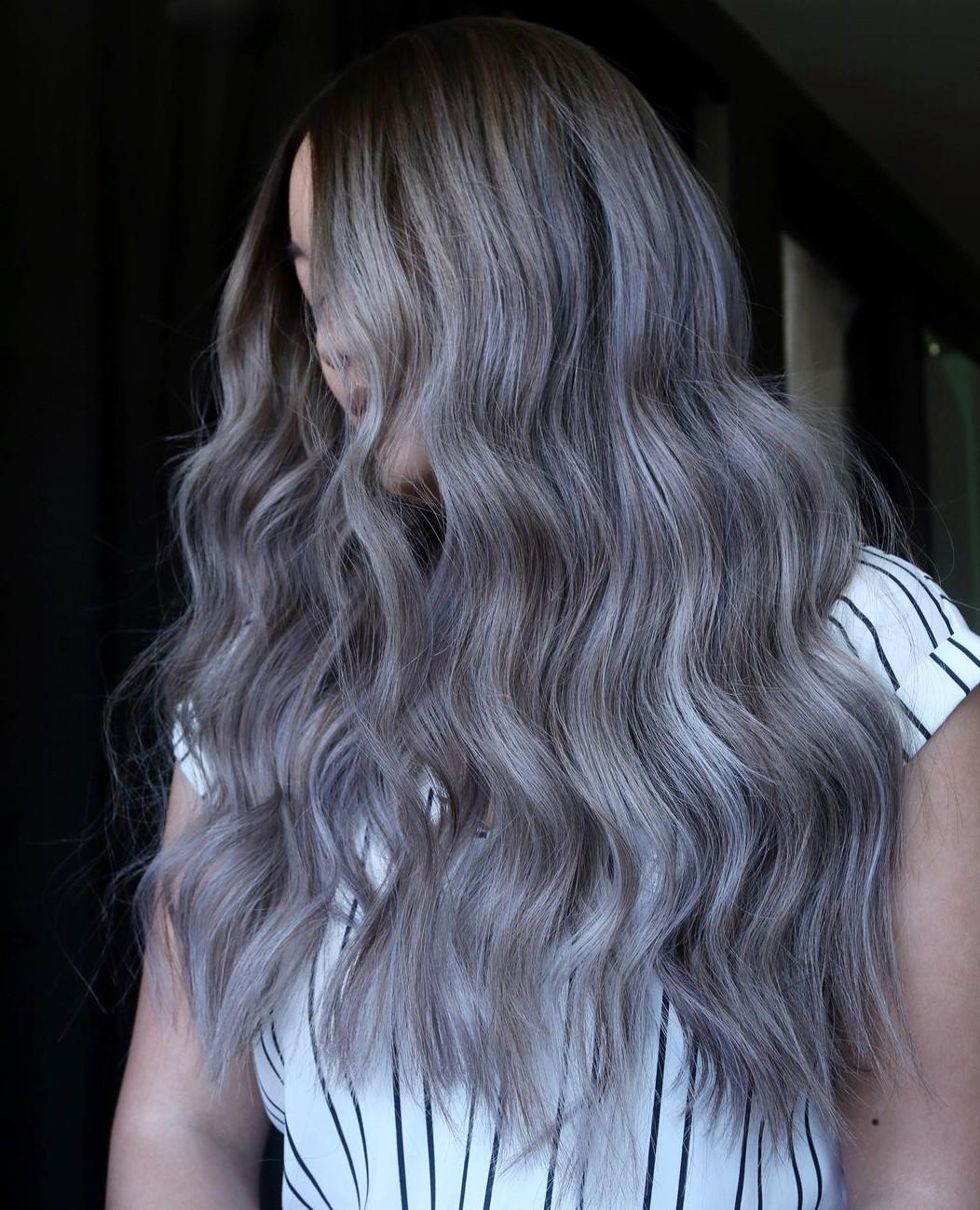 Smokey Highlights for Long Hair