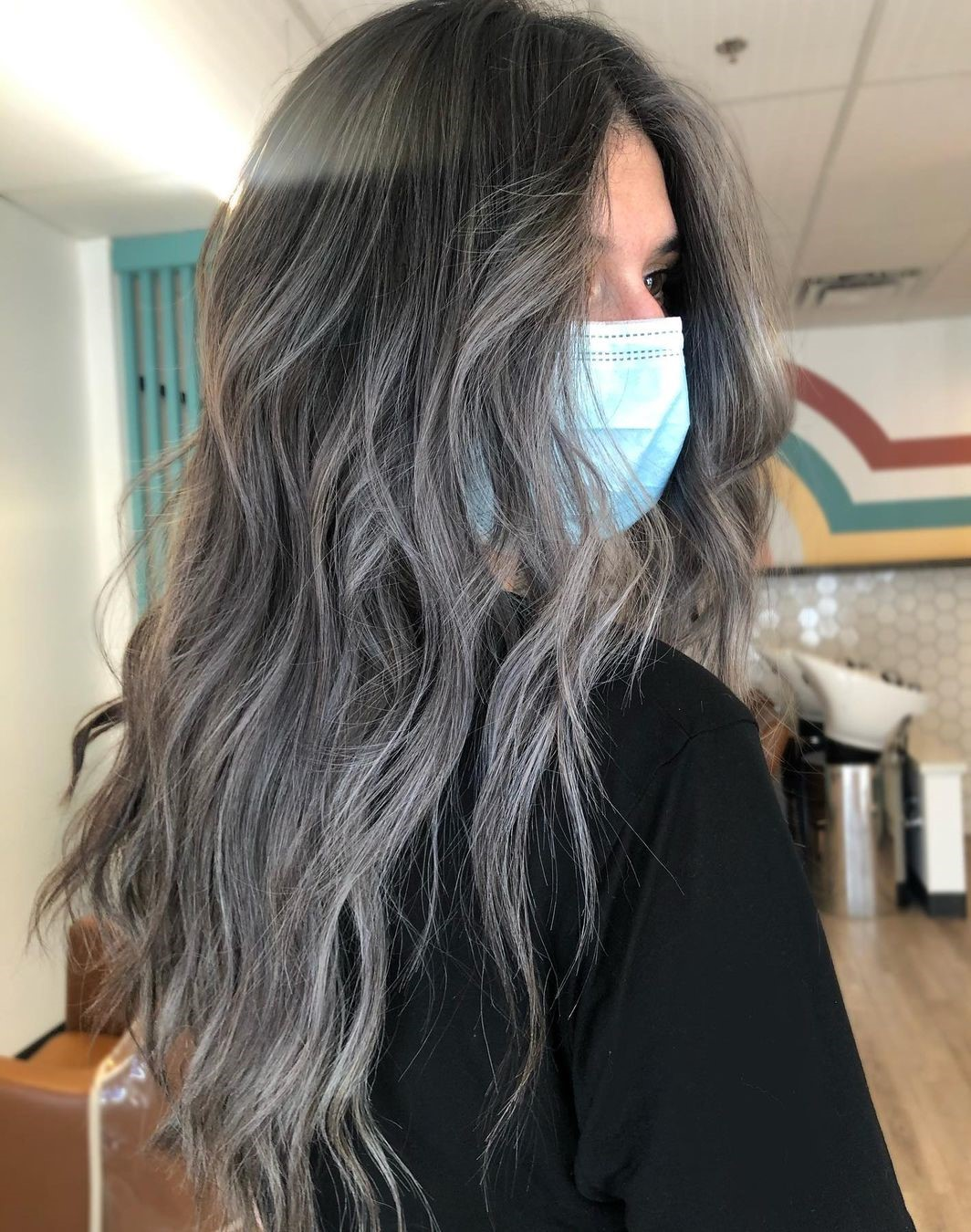 Brown Hair with Smoky Highlights