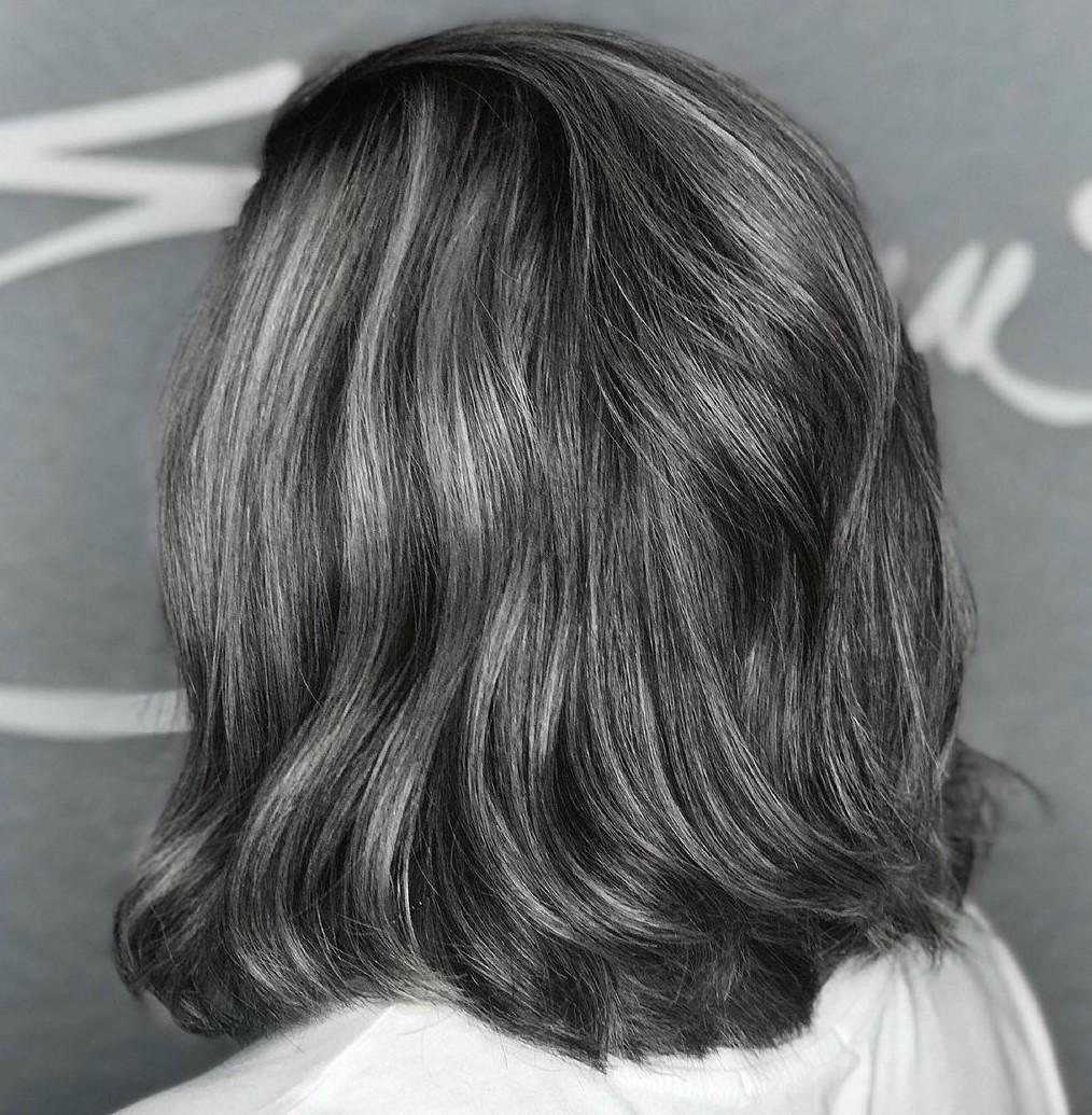 Medium-length Salt-and Pepper Hair
