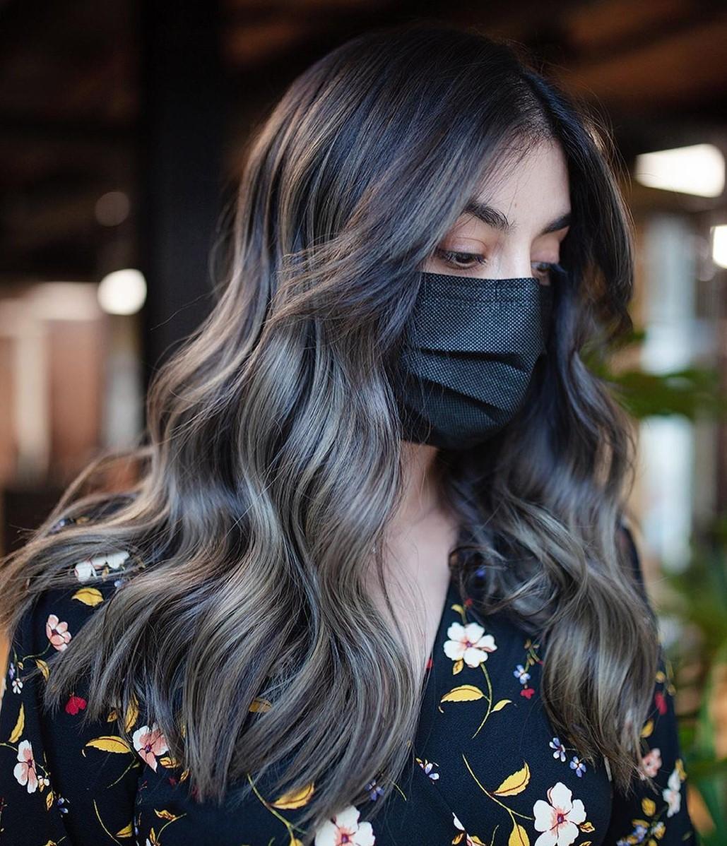 Gray Highlights for Dark Brown Hair
