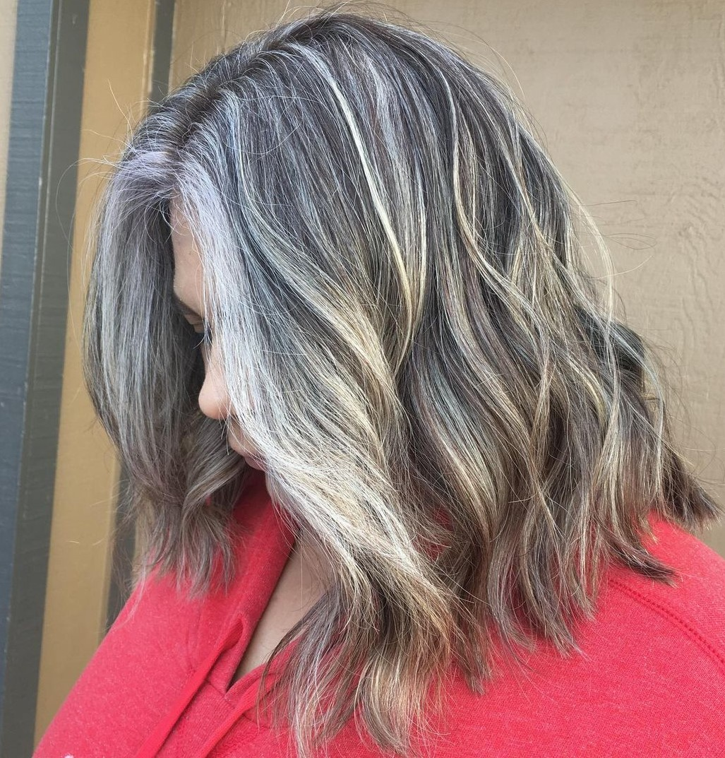 Over 60 Medium Hairstyle for Gray Hair
