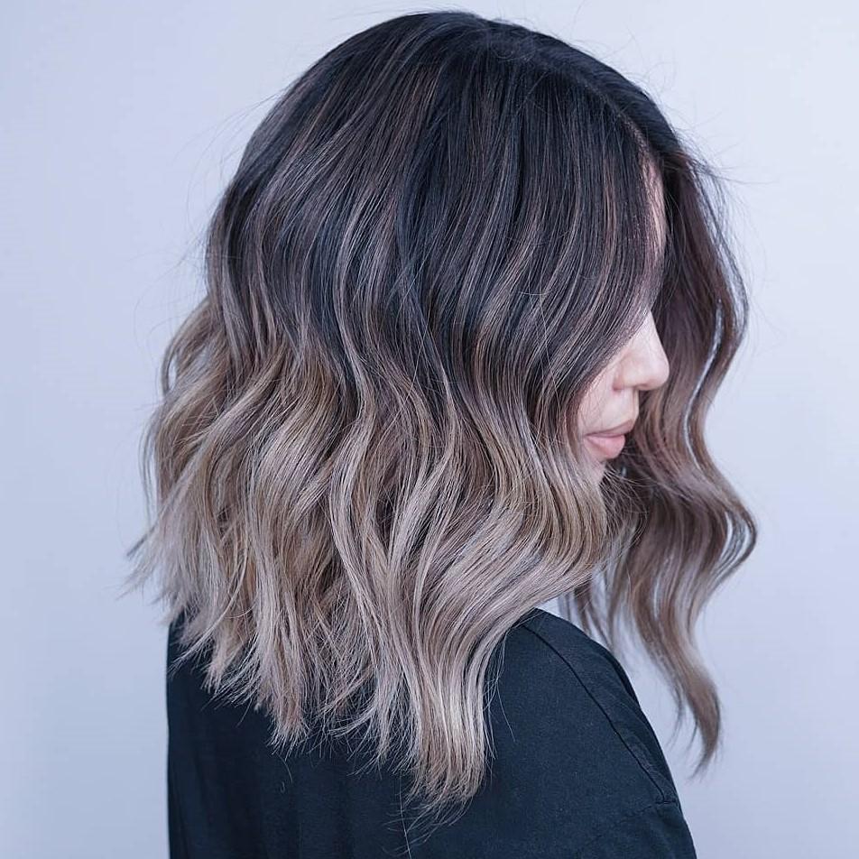 Half Brunette Half Mushroom Brown Hair