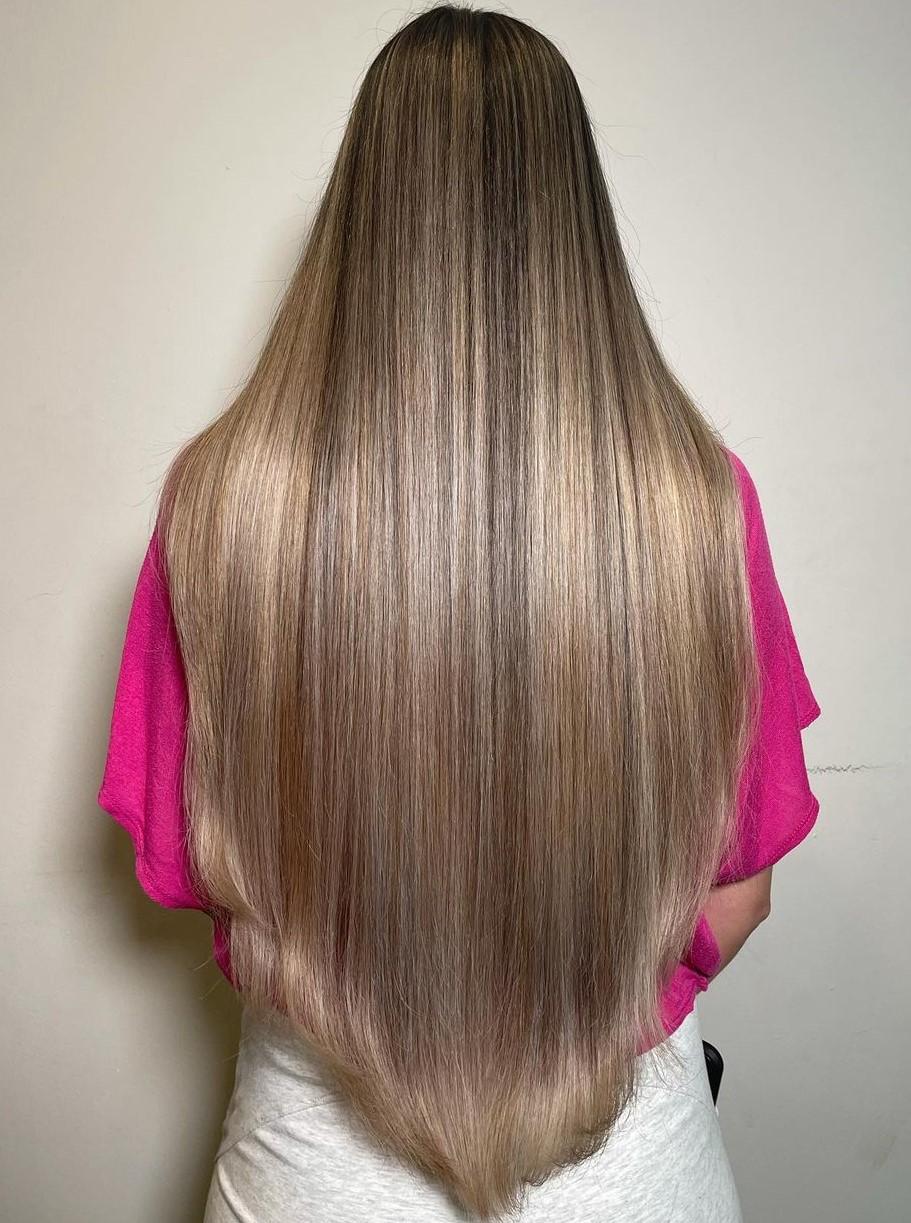 V Shape Haircut for Straight Thick Hair
