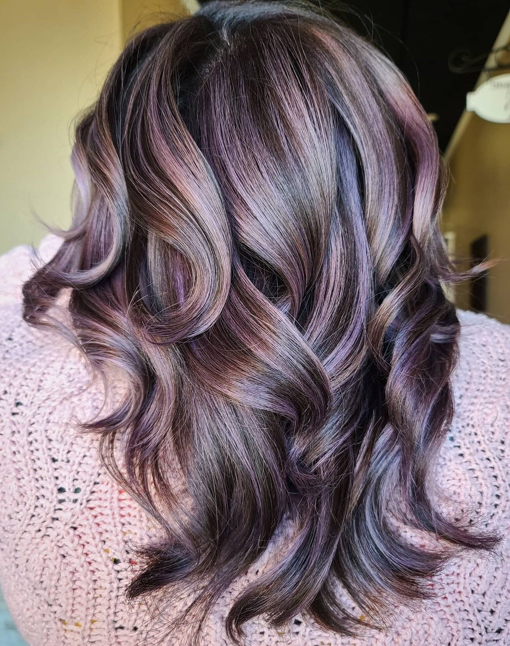 Barely-There Subtle Purple Highlights