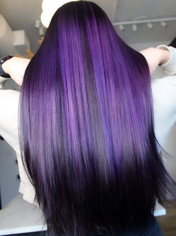 Bold Vibrant Violet Highlights