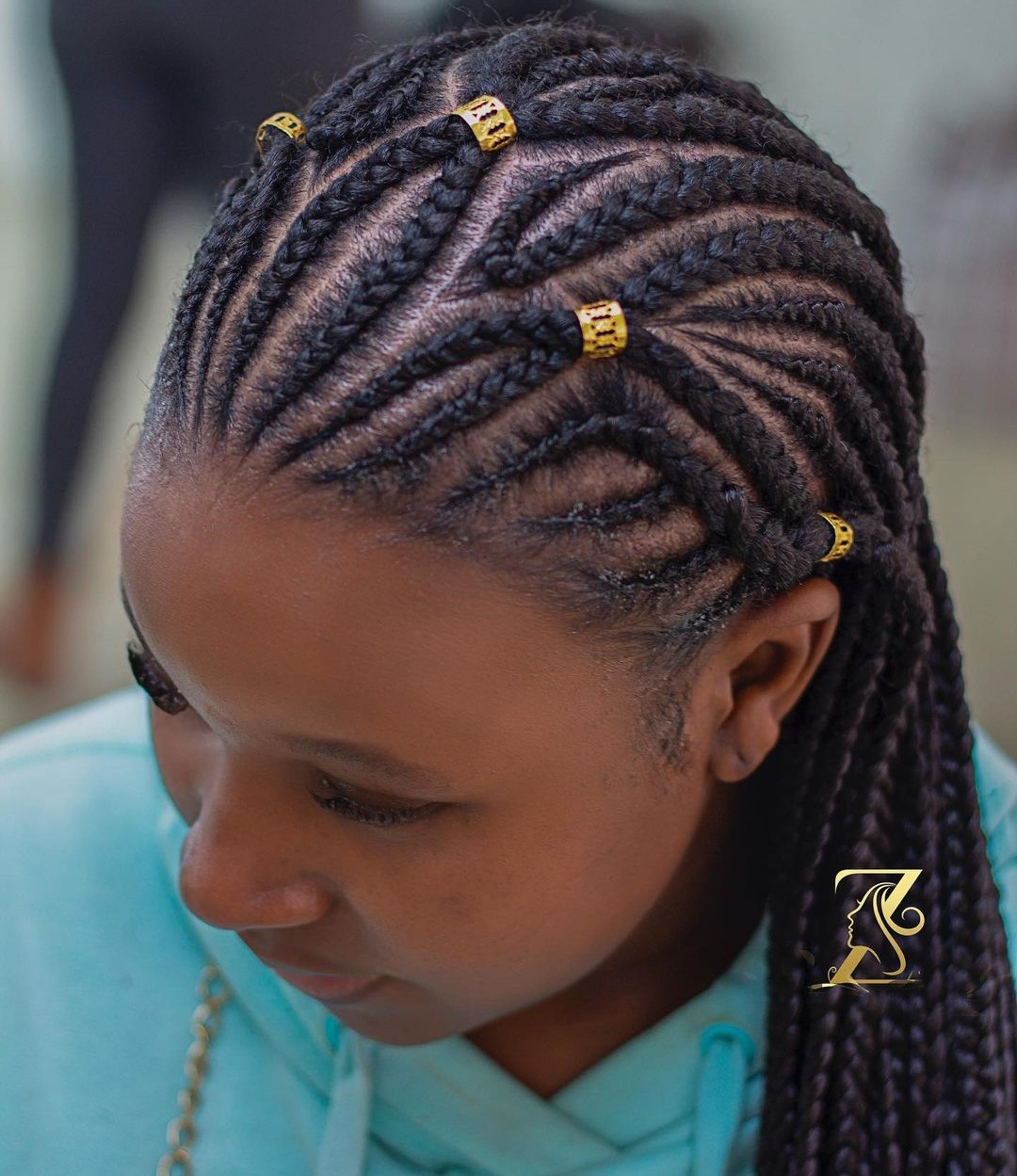 Stylish Ghana Braids with Cuffs