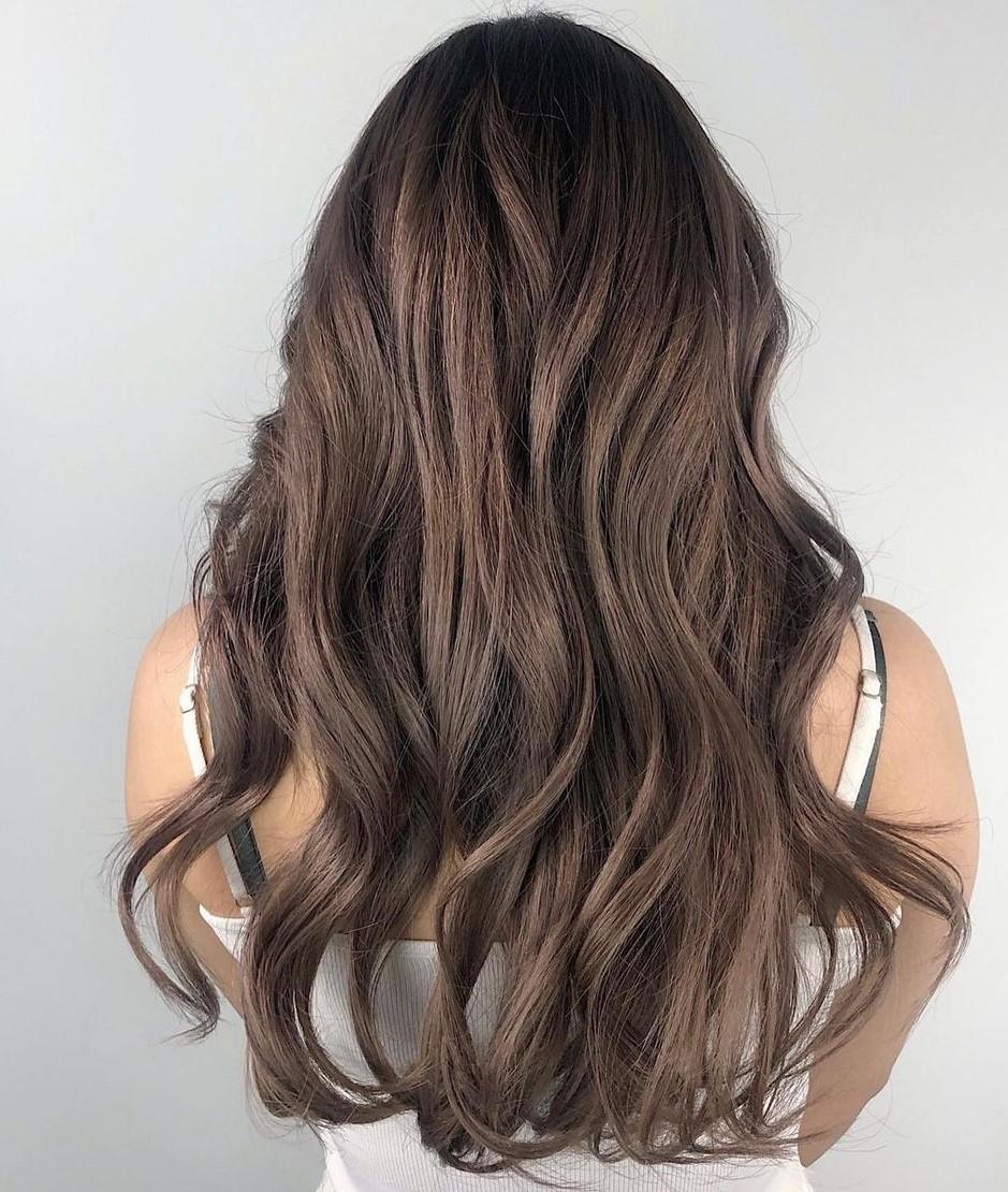 Mushroom Hair with Bronze Balayage