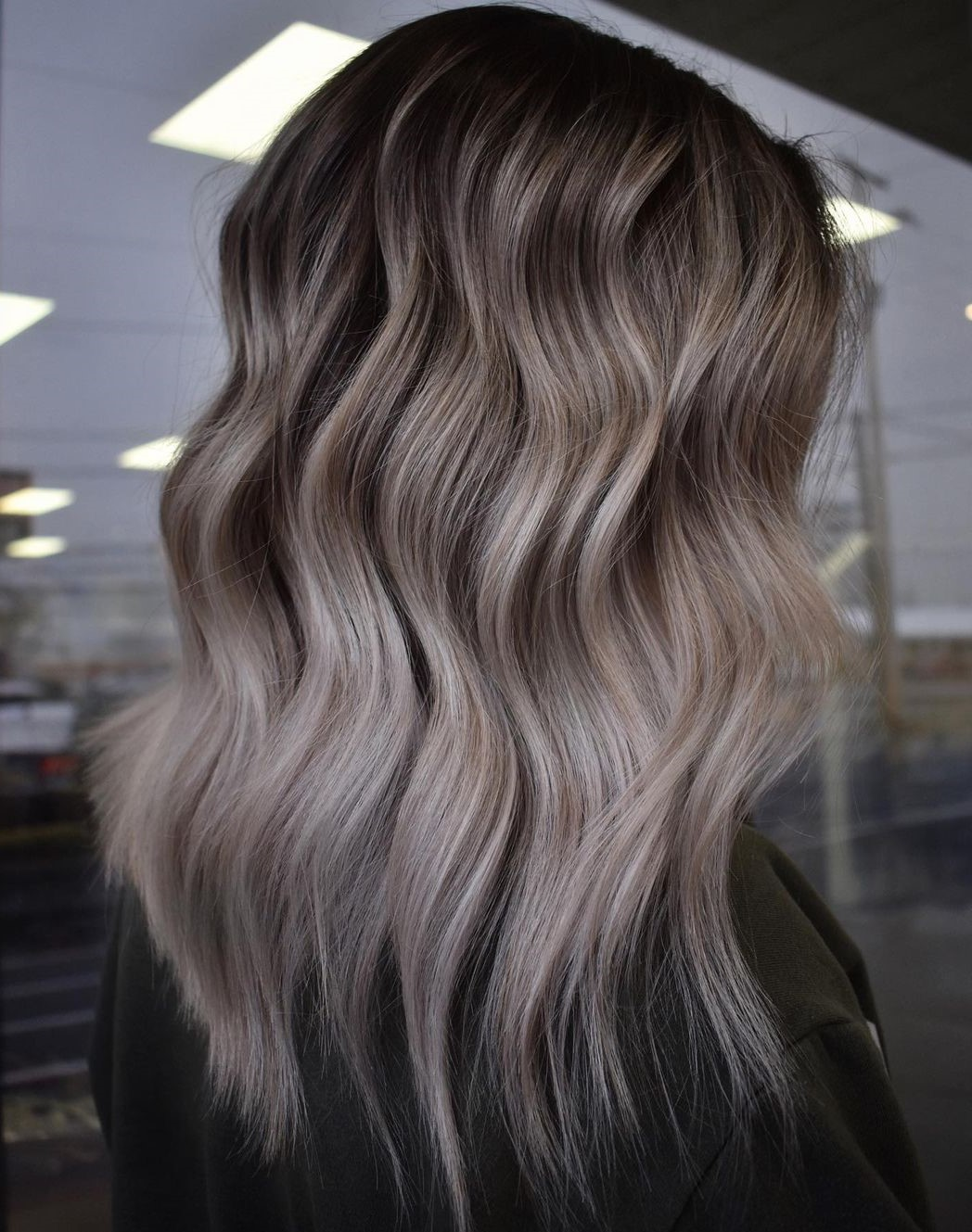 Mushroom Brown Hair with Ashy Highlights