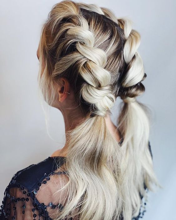 Sleep In Hairstyles for Long Hair Rope Twist Braids and Pigtails