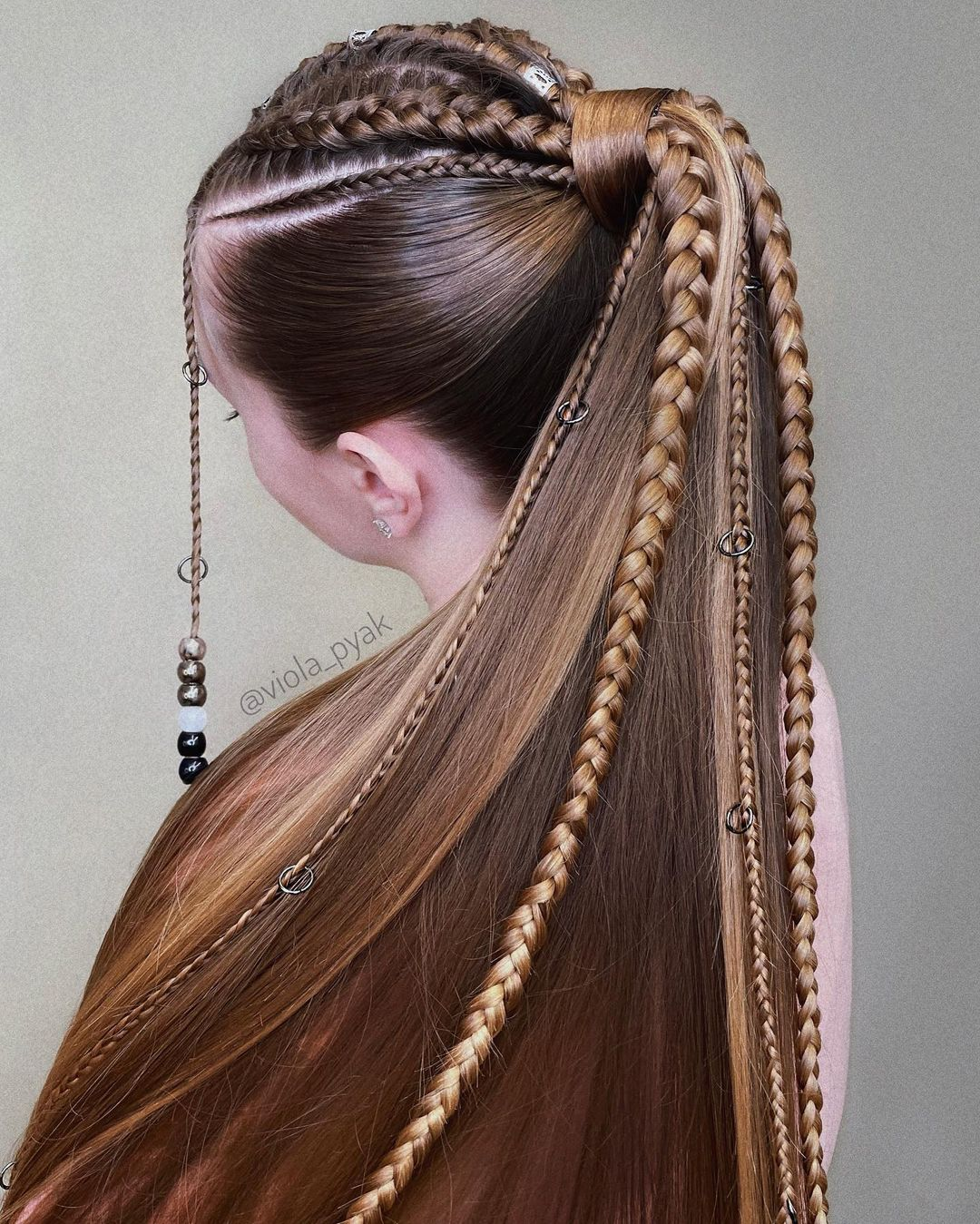 Ponytail with Different Braids