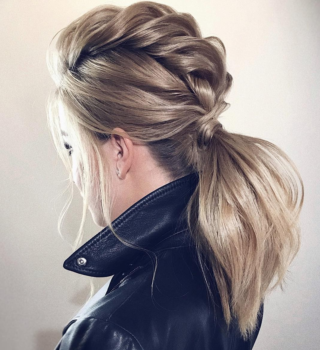 Cute Mohawk Braid and Ponytail