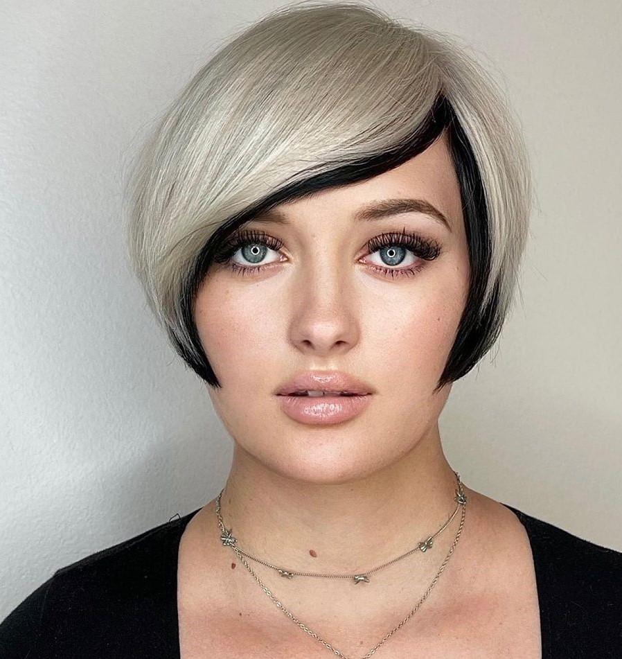 Blonde Hair with Black Peekaboo Color