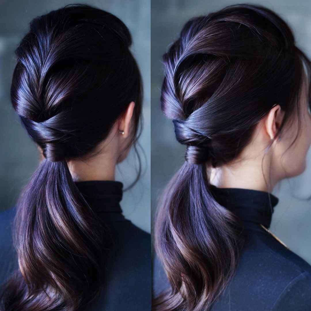 Braid and Low Ponytail