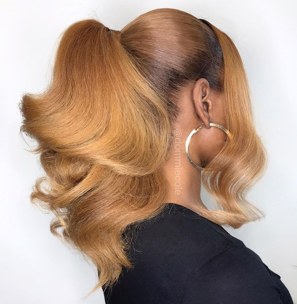 Sophisticated Ponytail with Big Curls